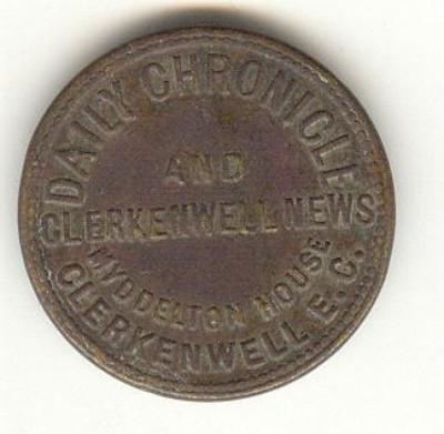 An Advertising Token Of The Daily Chronicle