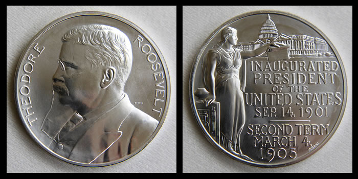 TR US Mint Presidential Medal- Silver