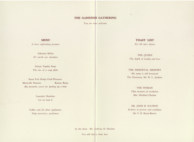 1961 Garrideb Gathering Menu 2-3