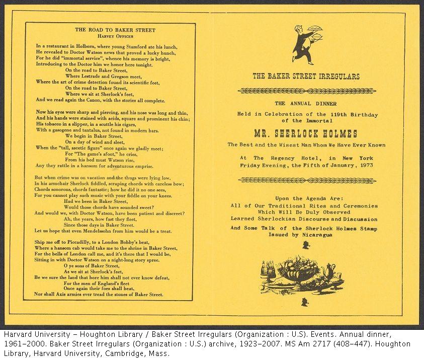 1973 BSI Dinner Program
