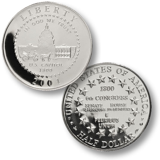 2001 Capitol Visitor Center 50 cents
