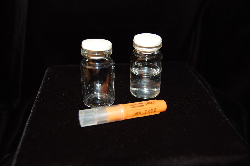 """""""... an empty phial, another nearly full ..."""" ~ WTB CREE Evidence Box"""
