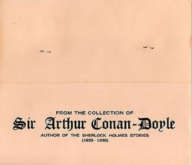 "MTB's ""Attractive Folder"" For Arthur Conan Doyle's Ancient Coins"
