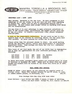 MTB Christmas List Letter 1968
