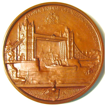 City of London's Medal Of The Tower Bridge Opening