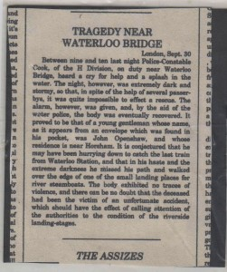 FIVE - Newspaper clipping