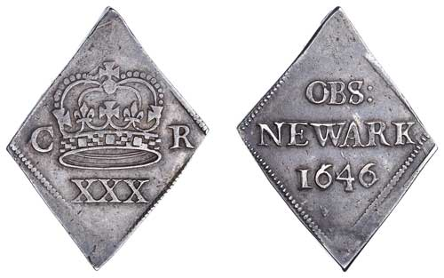1643 Newark Siege Half Crown