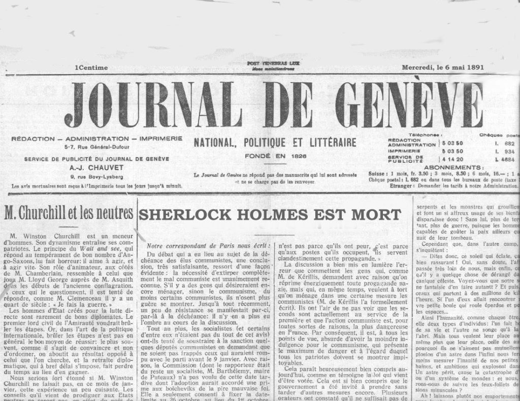"""As far as I know, there have been only three accounts in the public Press: that in the Journal de Genève upon May 6th, 1891 ..."" ~ WTB FINA Evidence Box"