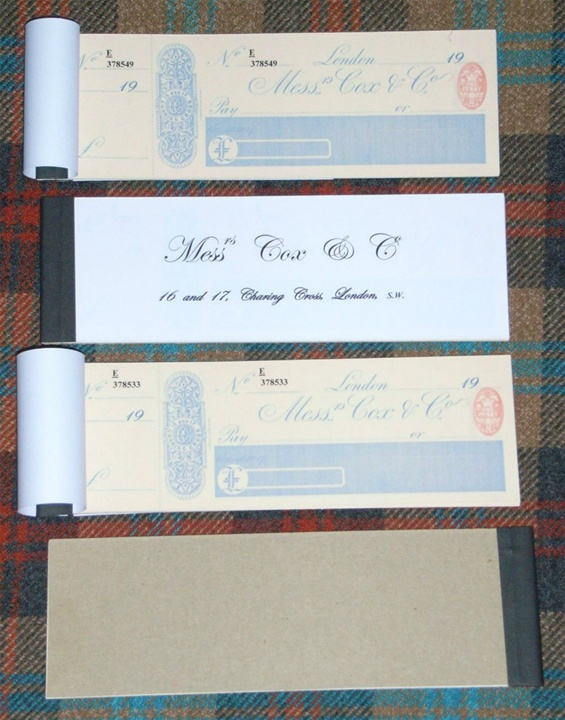 Reproduction Cox & Co. Paperwork Available