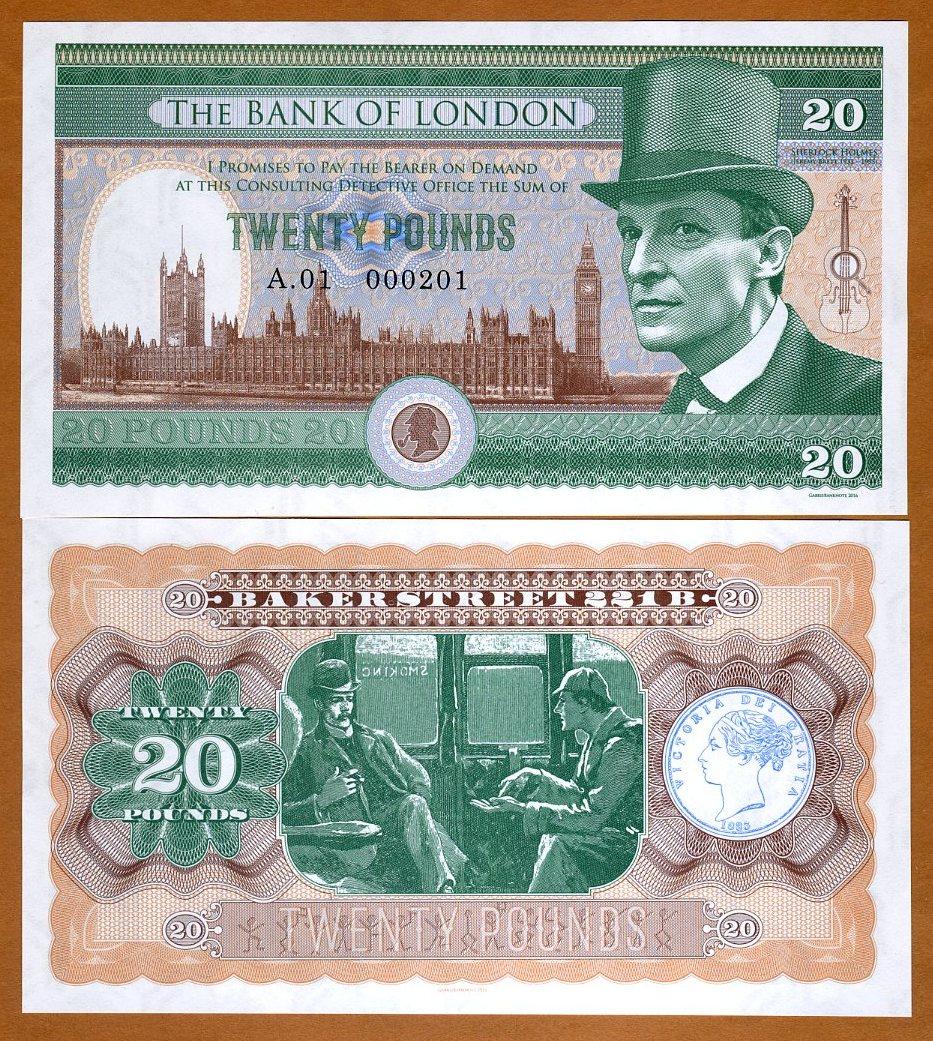 Jeremy Brett Featured on Fantasy £20 Banknote