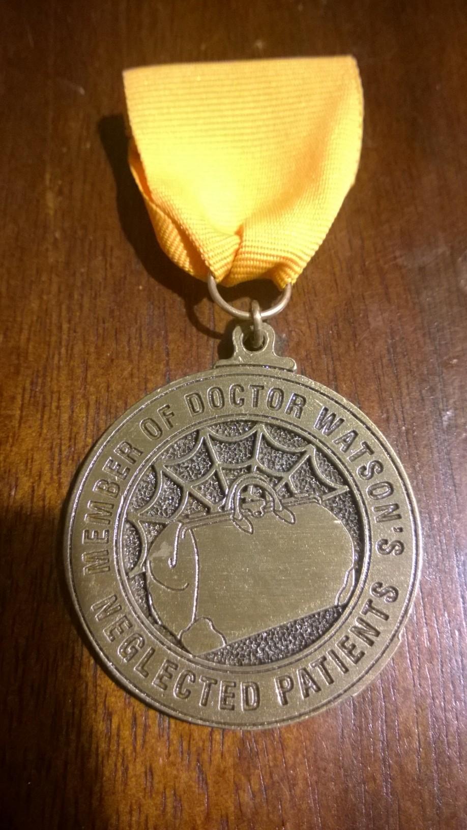 The Member's Badge of Denver's Doctor Watson's Neglected Patients