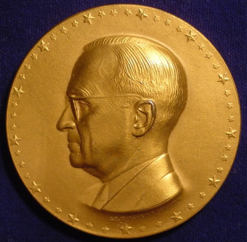 The 1949 Inaugural Medal of BSI Member Harry S Truman