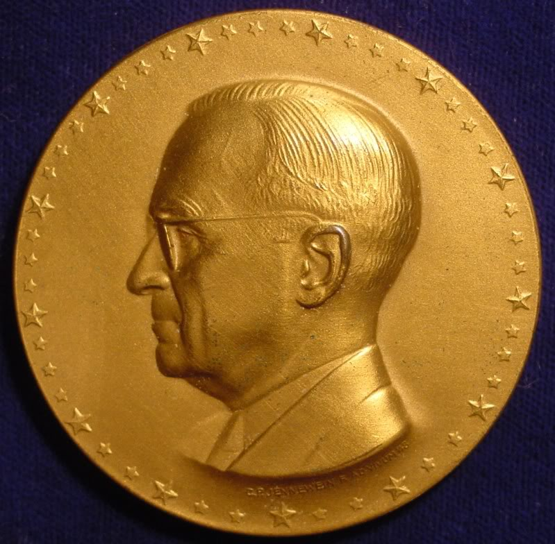 The 1949 Inaugural Medal of BSI Member Harry S Truman
