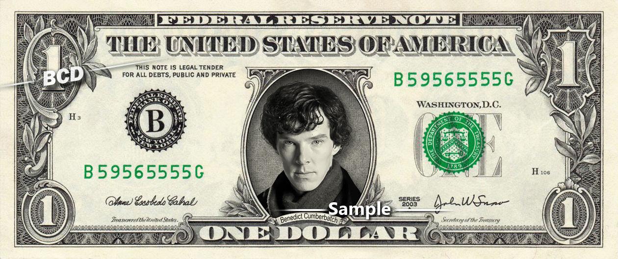 Three Varieties of Benedict Cumberbatch Personality Dollars