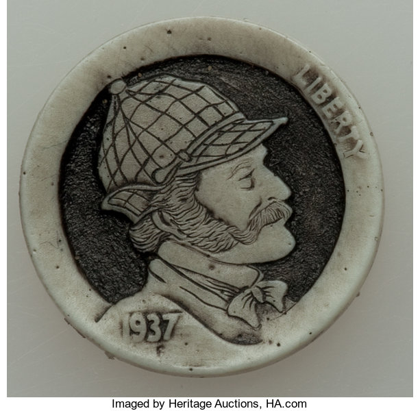 Porcelain Casts of Sherlockian Hobo Nickel Being Auctioned