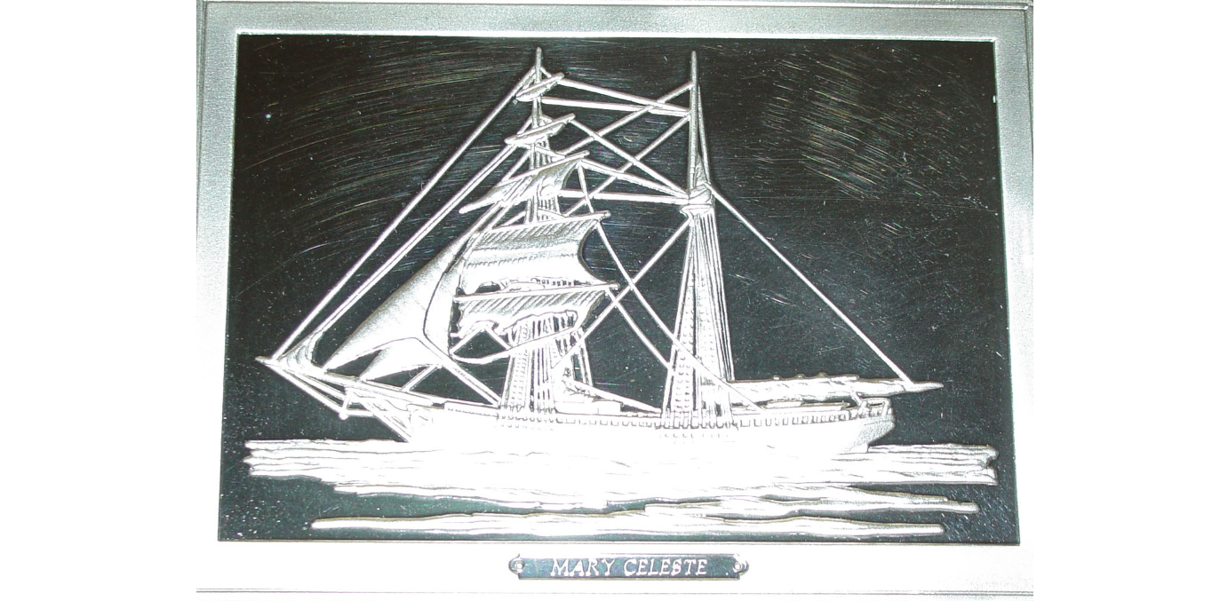 Franklin Mint Ingots Feature the Mary Celeste