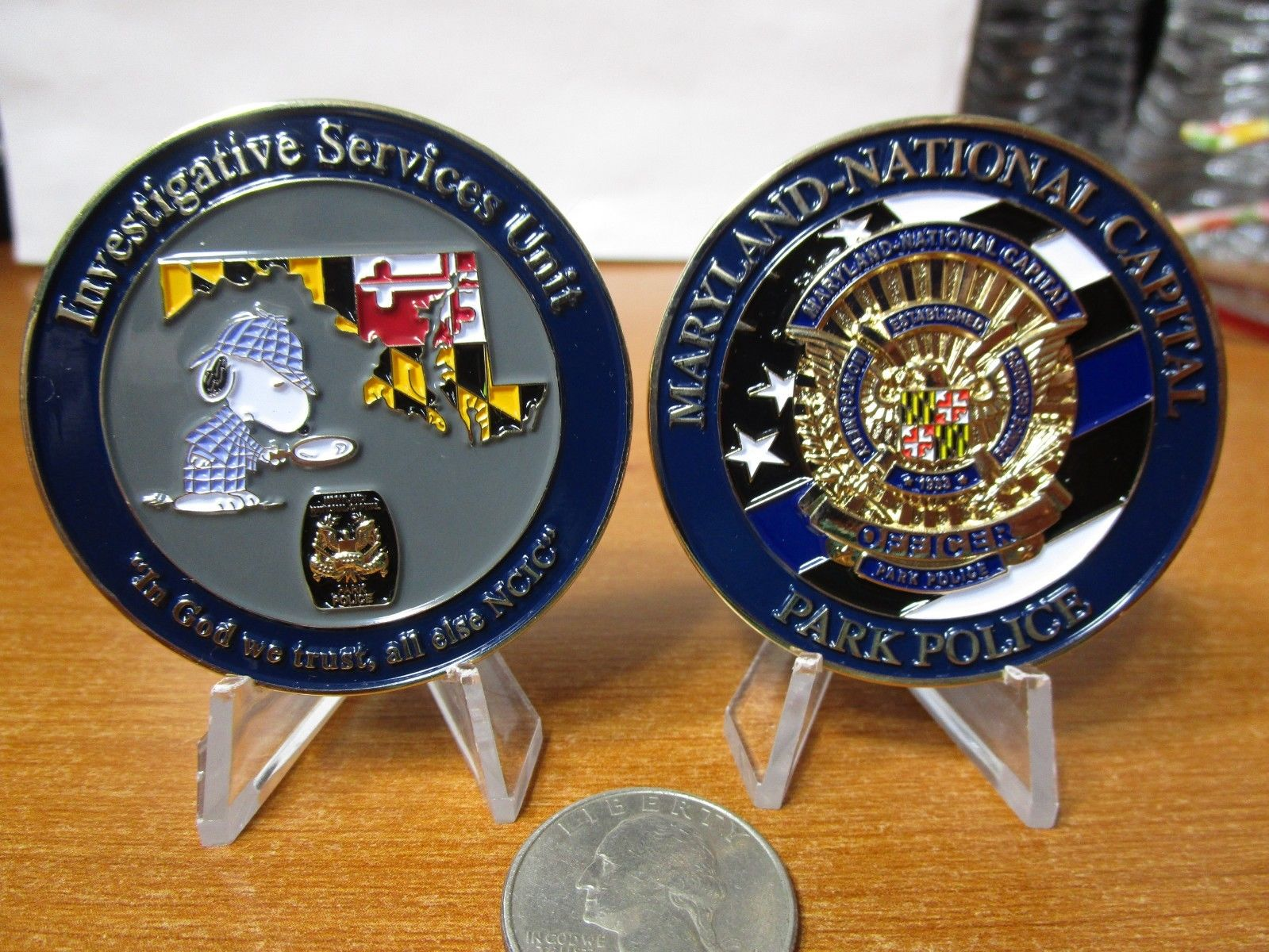 Maryland National Capital Park Police Issue Sherlockian Themed Challenge Coin