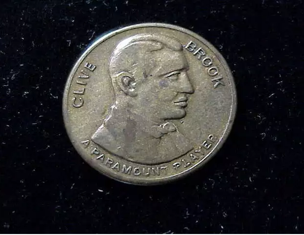 A Second (or Third) Trade Token Featuring Actor Clive Brook