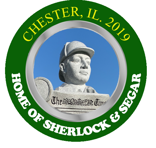 The 2019 Sherlock & Segar Statue Poker Chip