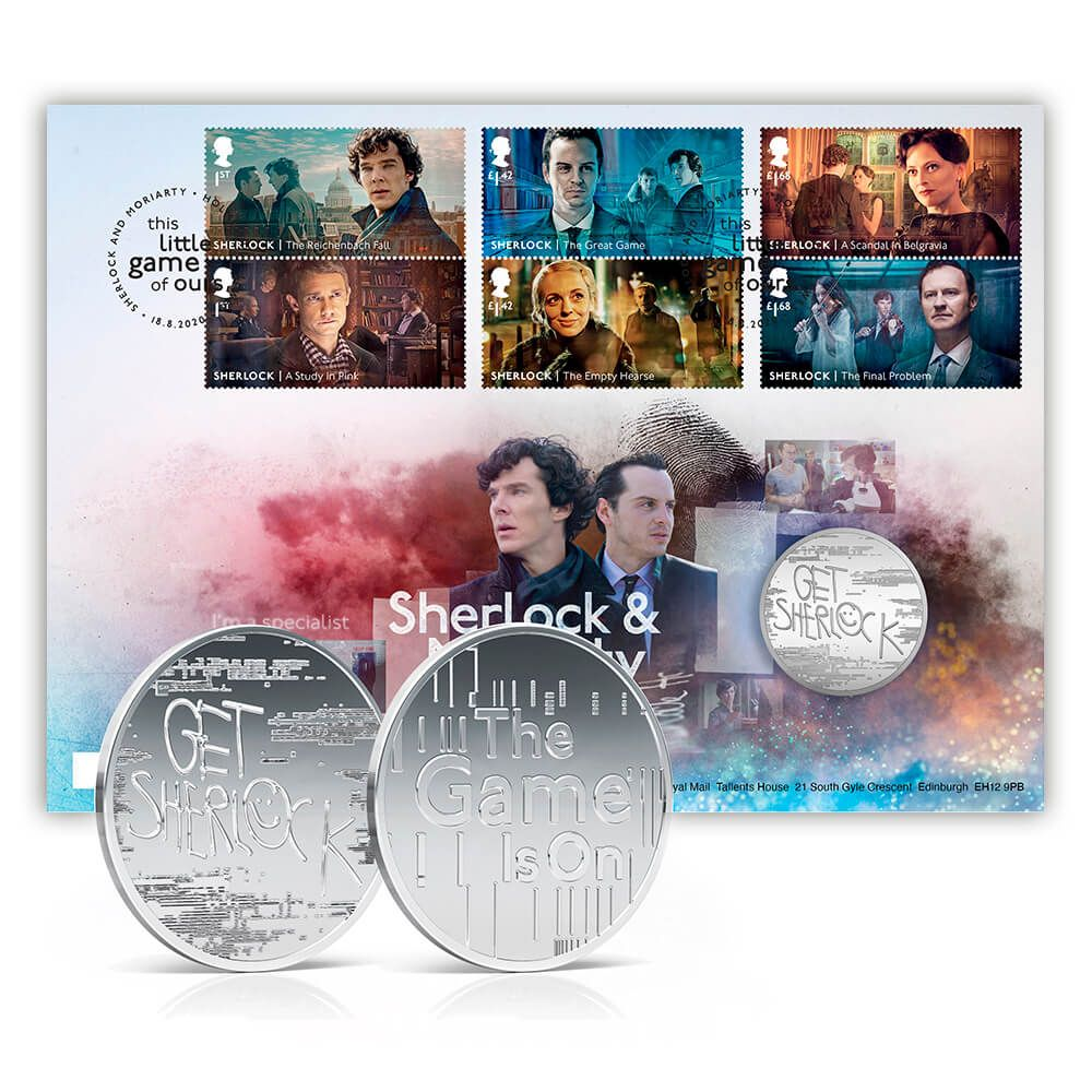 The Royal Mail's Sherlock – Moriarty Philatelic – Numismatic Cover