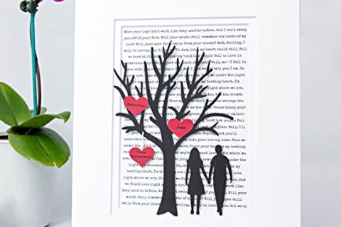 Personalized 3d Tree over Im Yours Lyrics