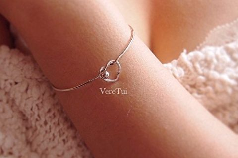 Silver plated Love Knot Bangle