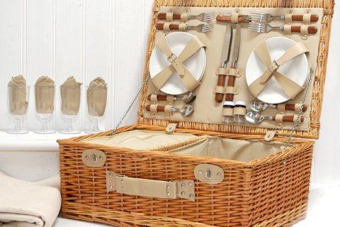 Picnic Basket Set of 4