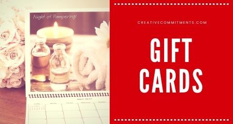 Creative Commitments Calendar Gift Card