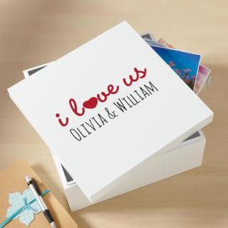 I Love Us Keepsake Box $49.99