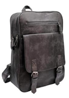 Classic 15 Inch Pu Leather Vintage Laptop Backpack