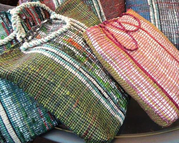 Weaving bags with Wendy Chavin