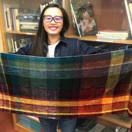 Tiana's chenille shawl