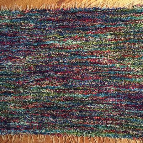 Linda's finished twice-woven rug