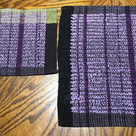 Ellen's Terry cloth hand towel & sample