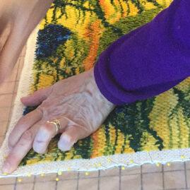 Nadine Sanders blocking fabric