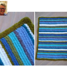 Phina Borgeson's Knitted & Felted Rug