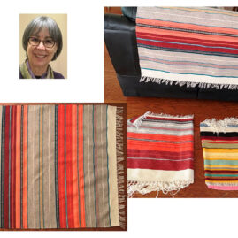 Trudie Folsom's Chimayo Rug & Pillows-to-be