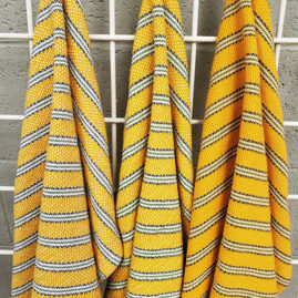 Mary Ann Parker's Yellow color challenge dishtowels