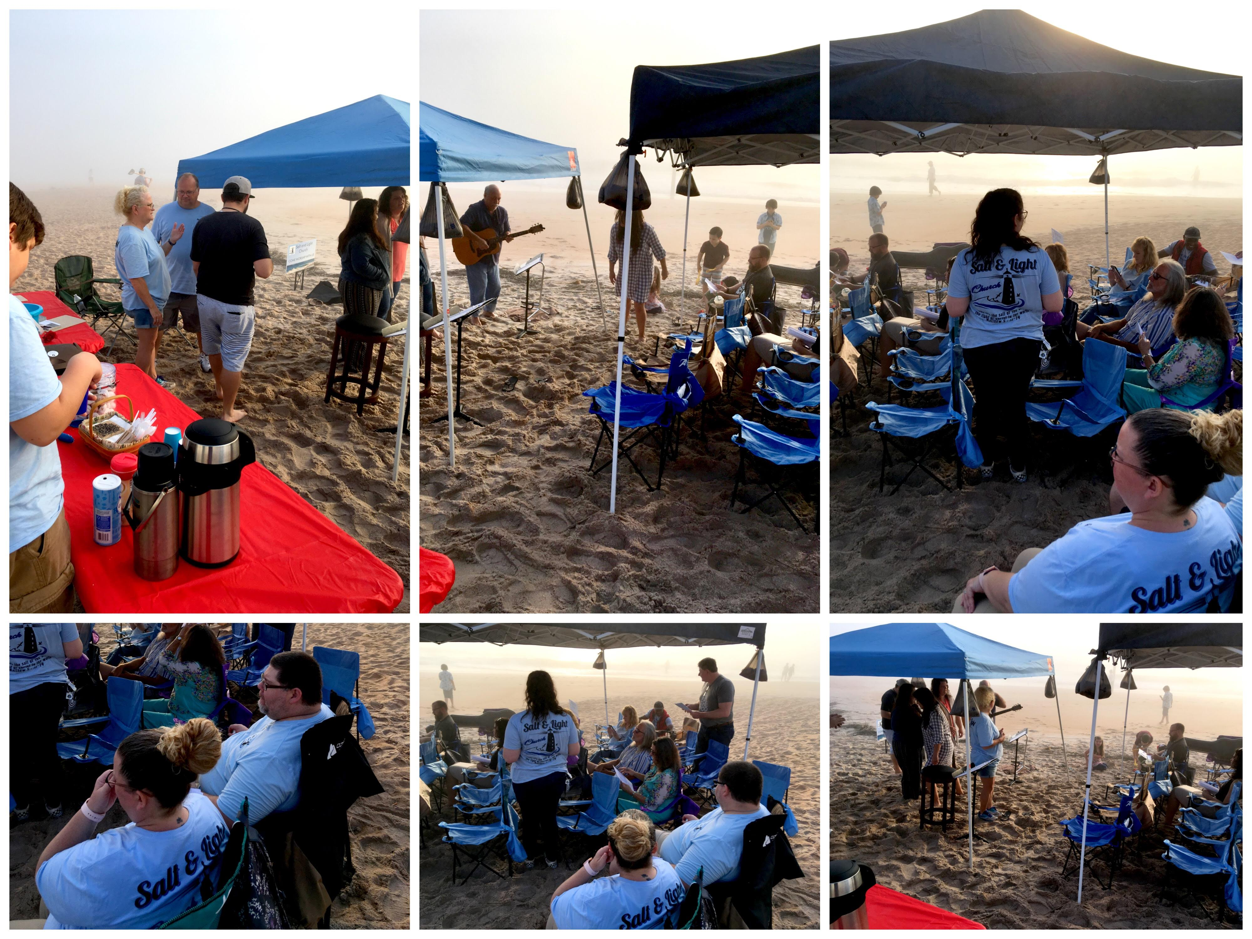 Salt and Light Church launched on the Beach!