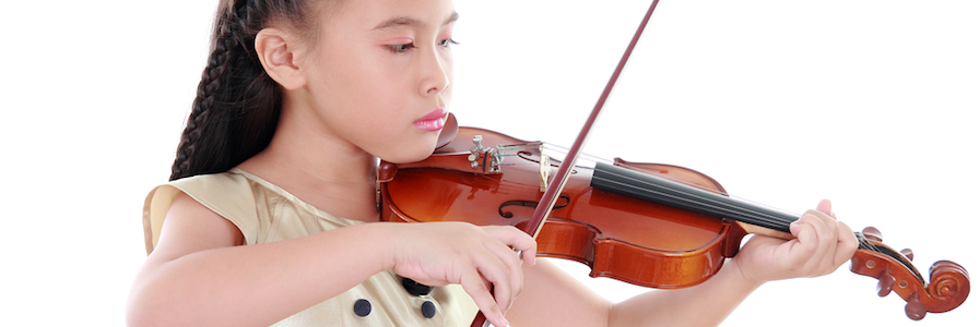 Scherzo Music School's Student Playing Violin in San Mateo and the Peninsula