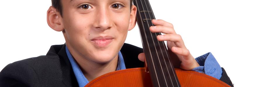 Scherzo Music School student holding a cello