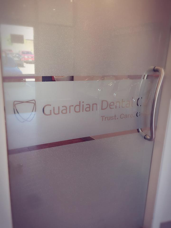 Shop front at Guardian Dental Care