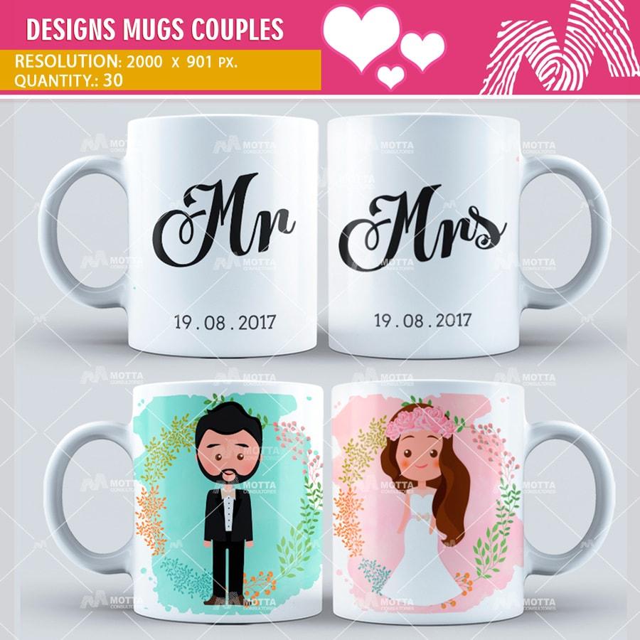 Design Sublimation Mugs Couples | Motta
