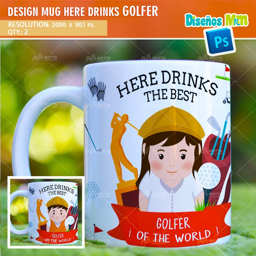 DESIGN SUBLIMATION HERE DRINKS THE BEST GOLFER
