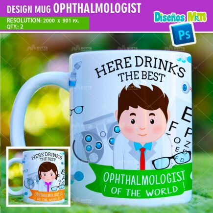 DESIGN SUBLIMATION HERE DRINKS THE BEST OPHTHALMOLOGIST