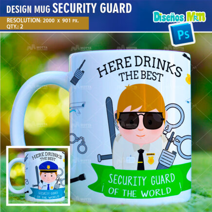 DESIGN SUBLIMATION HERE DRINKS THE BEST SECURITY GUARD