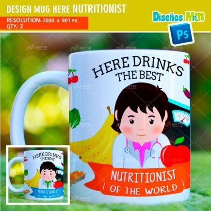 DESIGN SUBLIMATION HERE DRINKS THE BEST NUTRITIONIST