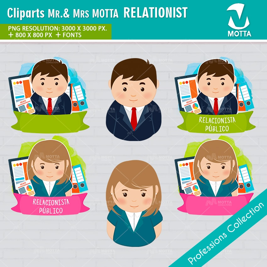 ClipArts Design Profession PUBLIC RELATIONIST