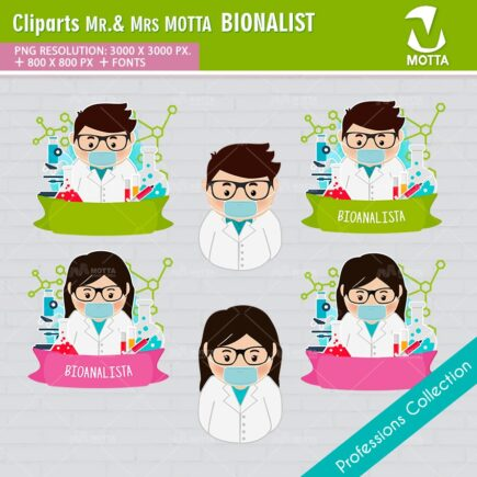 ClipArts Design Profession Bionalist