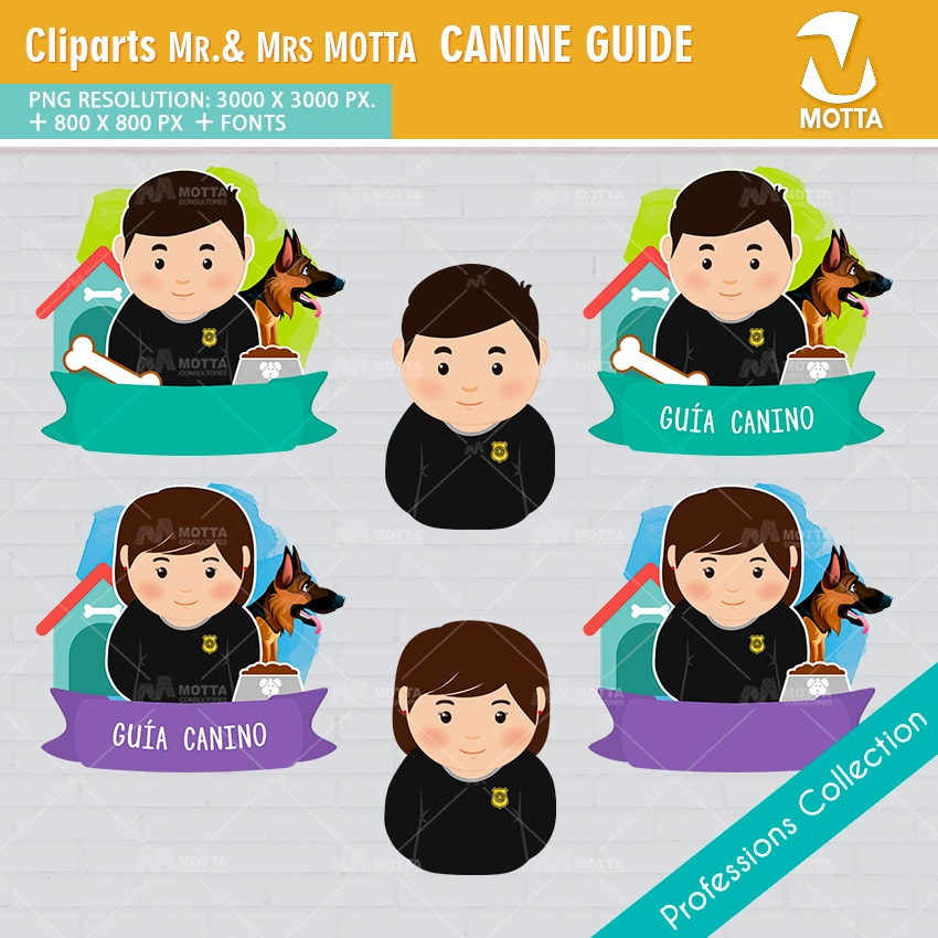 ClipArts Design Profession Guide Canine